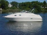 1998 REGAL COMMODORE 242 EXPRESS CRUISER BOAT WITH 2008 DUAL AXLE TRAILER -SALE PRICE:$ 28,900